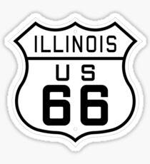 Illinois Route 66 Sticker