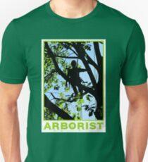 Arborist / Tree Worker Silhoutte Design Unisex T-Shirt