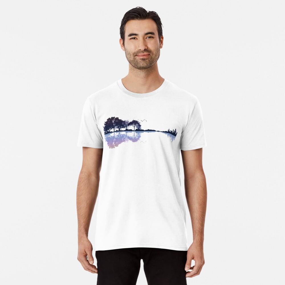 Natur Gitarre Premium T-Shirt