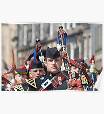 The Piper - Royal Scots Dragoon Guards Poster