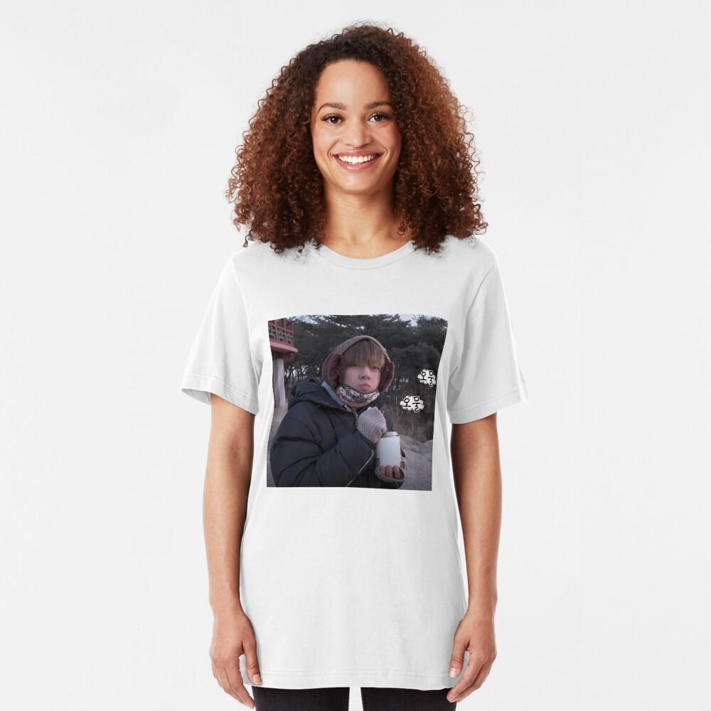 Schmuddeliges Taehyung Slim Fit T-Shirt