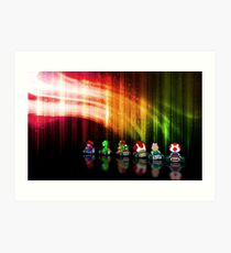 Super Mario Kart pixel art Art Print