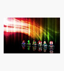 Super Mario Kart pixel art Photographic Print