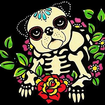 Pug Flowers - Cute Dogs by bilinyam