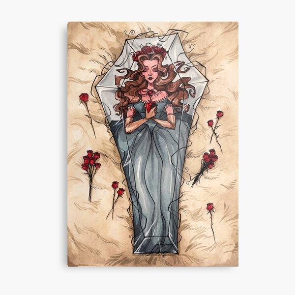 Sleeping Death Metal Print