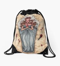 Sleeping Death Drawstring Bag