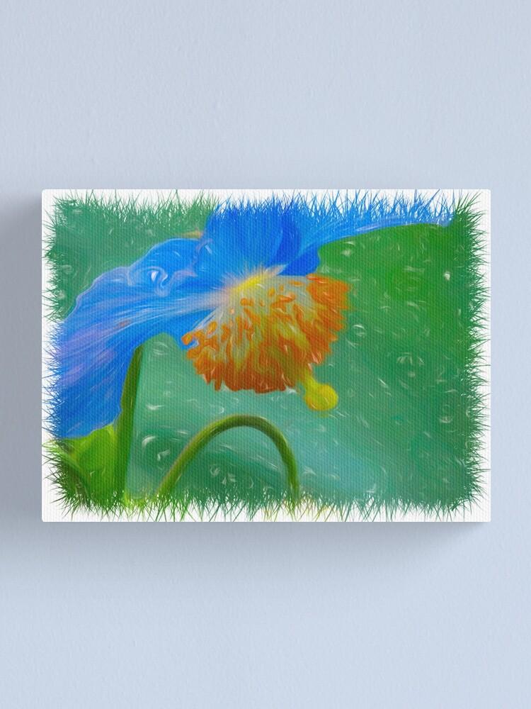 Alternate view of Blue Petals Canvas Print
