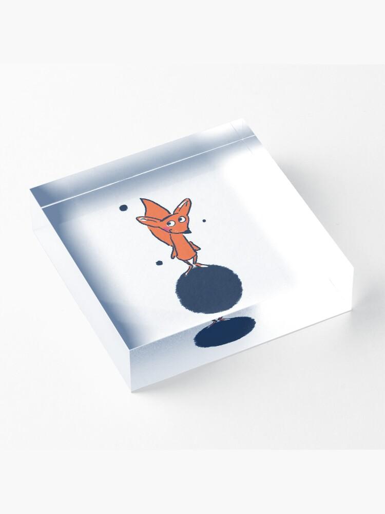 Alternative Ansicht von Fuchs im Weltall Acrylblock