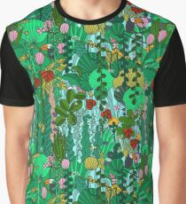 Pattern 91 - Tropical Emerald Forest Graphic T-Shirt
