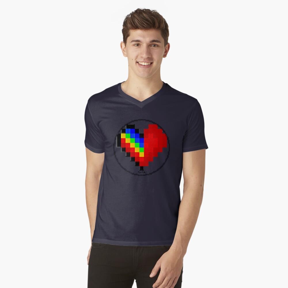 Emoji Heart 1 by RootCat V-Neck T-Shirt