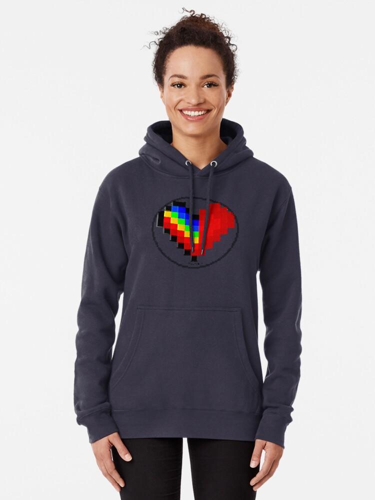 Alternate view of Emoji Heart 1 by RootCat Pullover Hoodie