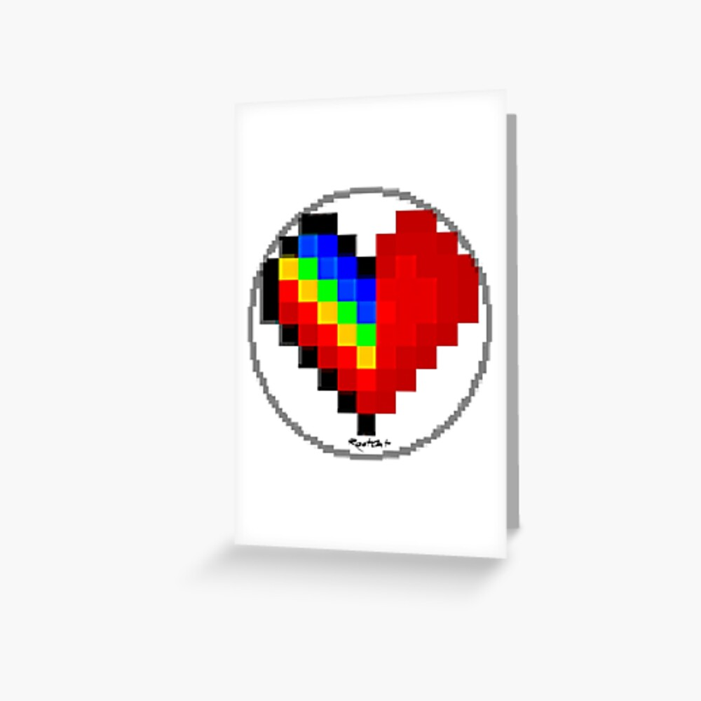 Emoji Heart 1 by RootCat Greeting Card