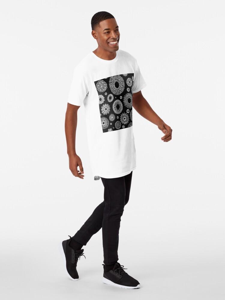 Vista alternativa de Camiseta larga Tonos de gris