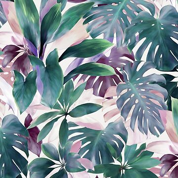 Tropical Emerald Jungle in light cool tones by micklyn