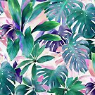 «Pastel Summer Tropical Emerald Jungle» de micklyn