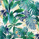 Golden Summer Tropical Emerald Jungle by micklyn