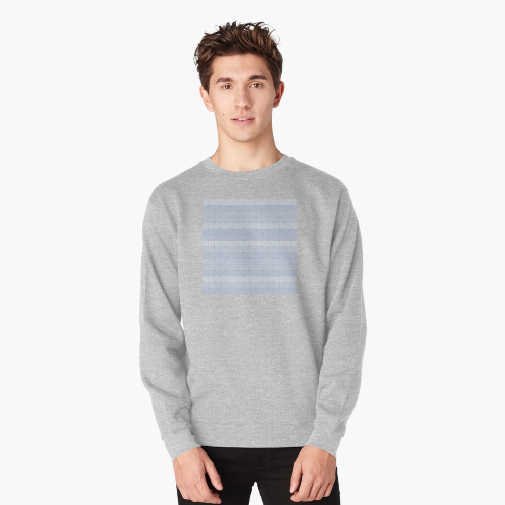 Geometric pattern light blue Pullover Sweatshirt