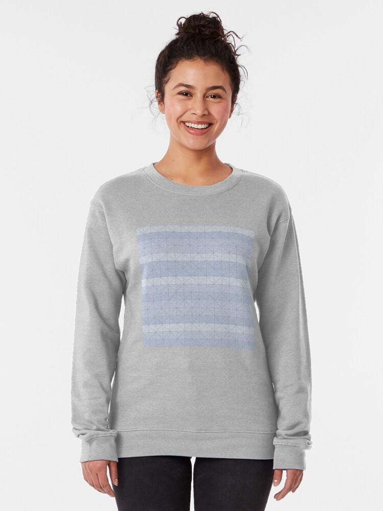 Alternate view of Geometric pattern light blue Pullover Sweatshirt