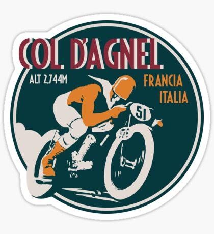 Col d'Agnel - Route des Grandes Alpes France Motorcycle Design Sticker