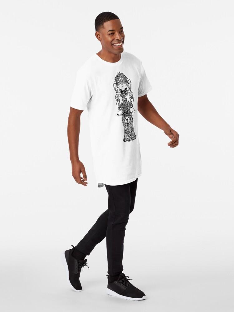 Vista alternativa de Camiseta larga Tótem indio