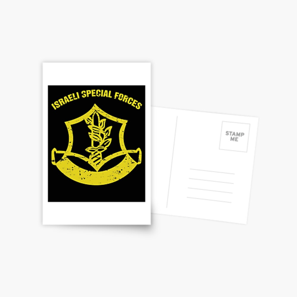 Israeli Special Forces Logo IDF Israeli special Forces Commando Gift Postcard