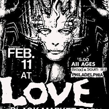 Love Club philly punk flyer by vanitees5211