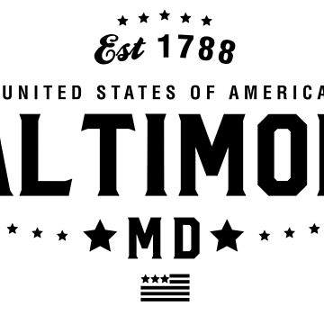 Baltimore Maryland Shirt State MD by CarbonClothing
