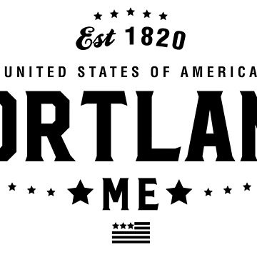 Portland Maine Shirt State ME by CarbonClothing