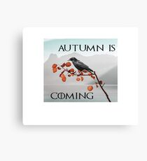 Autumn is coming Canvas Print