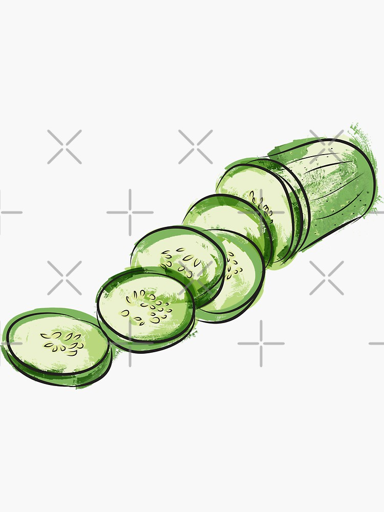 chopped cucumber by kimtangdesign