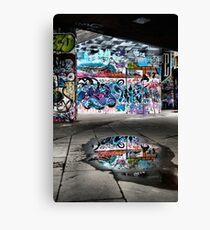 London Southbank Skate Graffiti Canvas Print