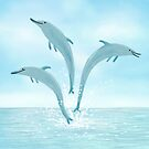 Jumping Dolphins by Sophie Corrigan