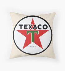 Texaco retro Throw Pillow