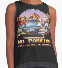 No Parking Violators will be Destroyed Contrast Tank