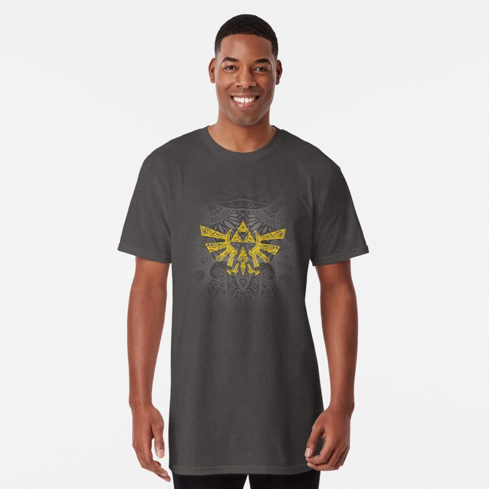 Emblema Hyrule Amarillo Camiseta larga