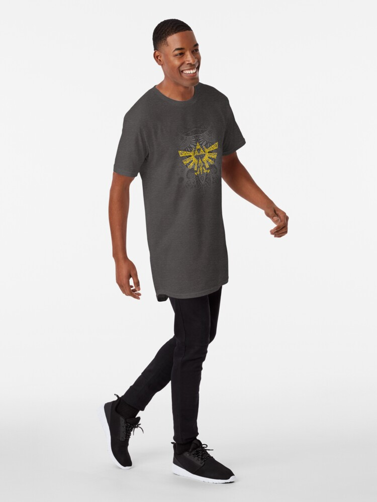 Vista alternativa de Camiseta larga Emblema Hyrule Amarillo