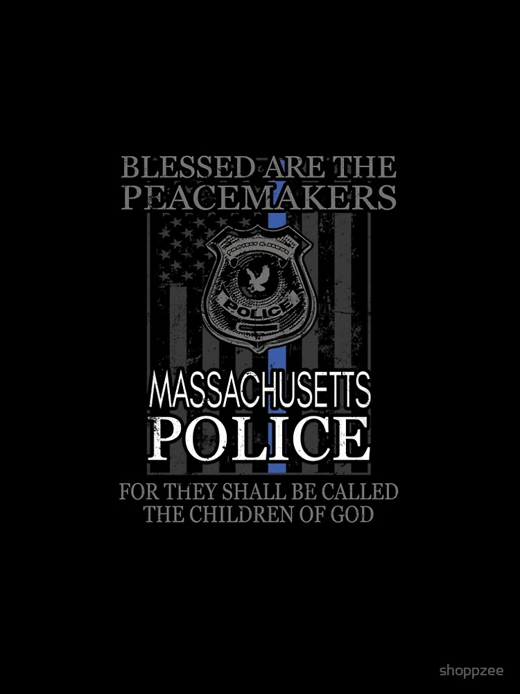 Massachusetts Police Boston Police Shirt Support Peacemakers by shoppzee