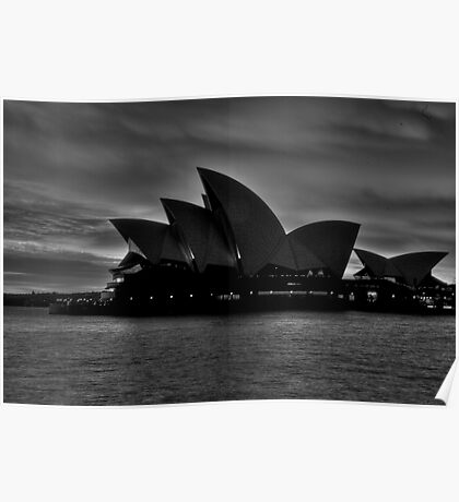 Black and White Aria - Sydney Opera House - The HDR Experience Poster