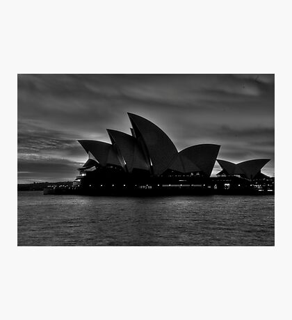 Black and White Aria - Sydney Opera House - The HDR Experience Photographic Print