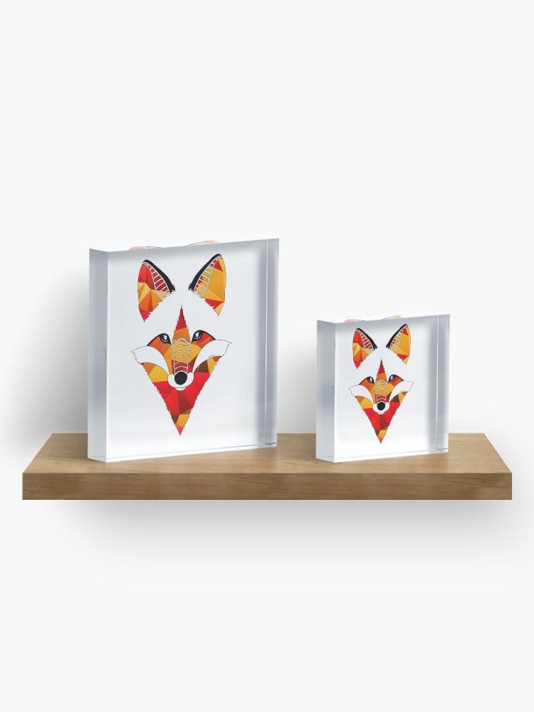 Vista alternativa de Bloque acrílico Fire Fox