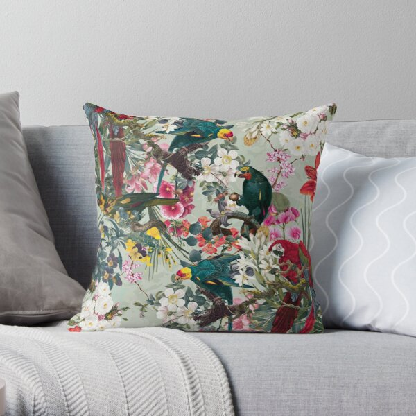 FLORAL AND BIRDS XXII Throw Pillow