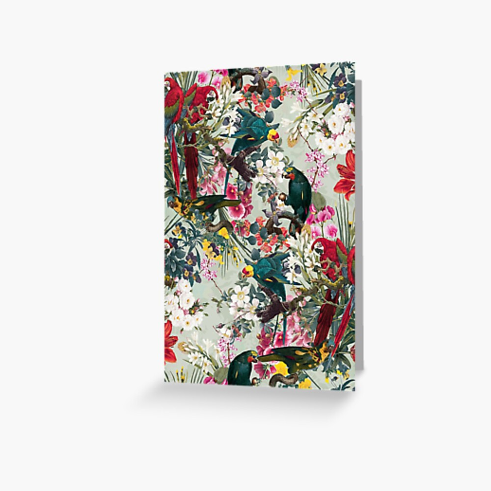 FLORAL AND BIRDS XXII Greeting Card