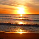 Sunrise over Warriewood Beach by coastal