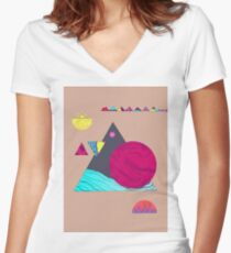 Artistic & Creativity Women's Fitted V-Neck T-Shirt