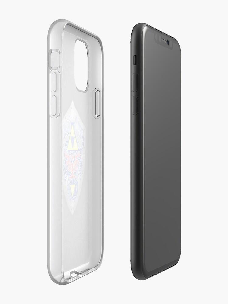 Zelda Link Shield Doodle iphone case