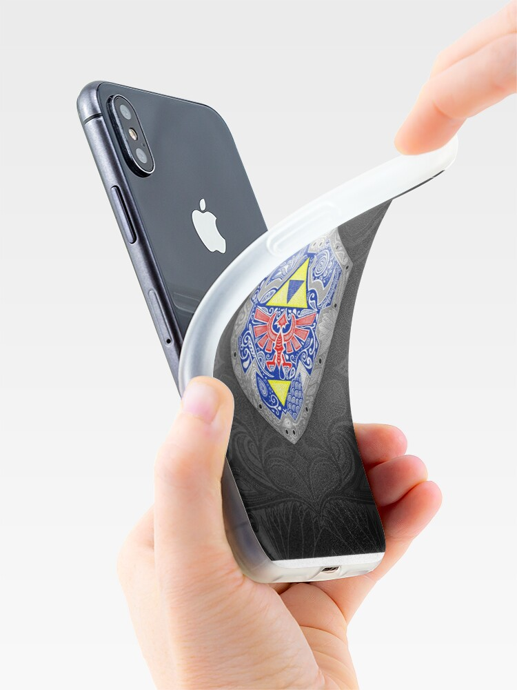 Alternative Ansicht von Zelda - Link Shield Gekritzel iPhone-Hülle & Cover