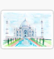 Watercolor Taj Mahal Sticker