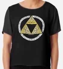 Zelda - Triforce circle Chiffon Top