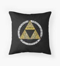 Zelda - Triforce circle Throw Pillow