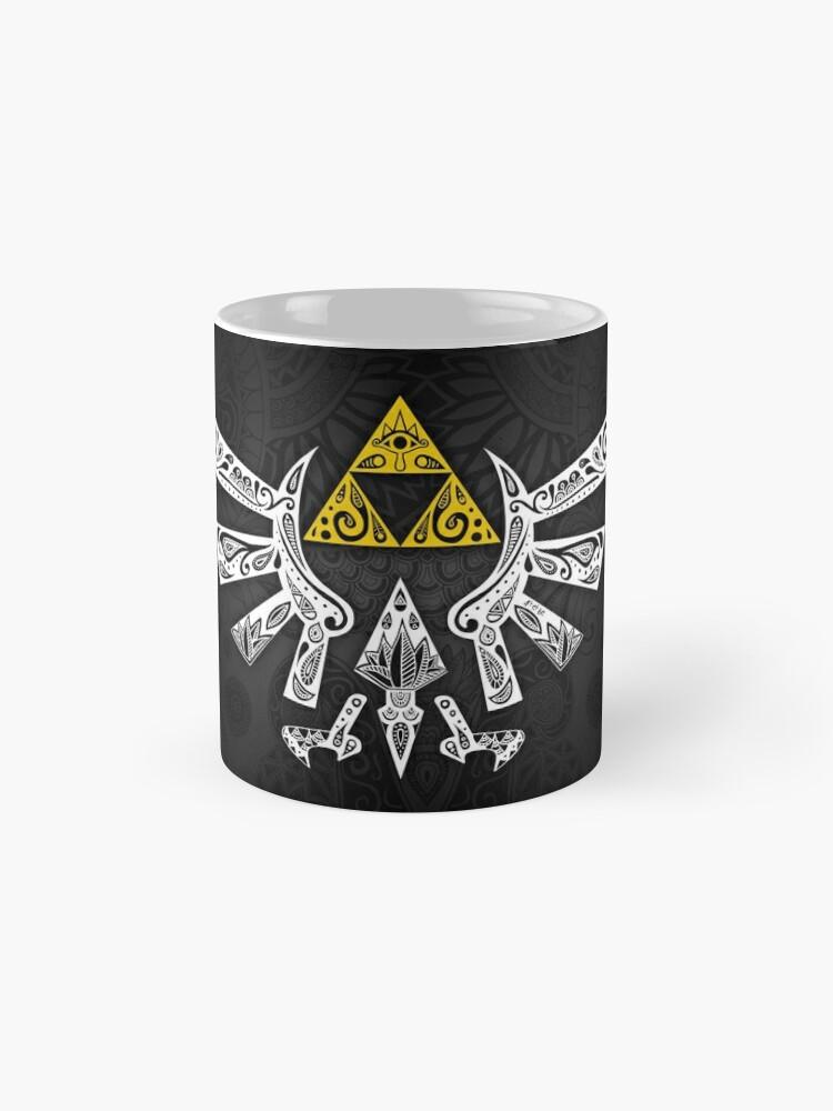 Alternative Ansicht von Zelda - Hyrule Gekritzel Tasse (Standard)